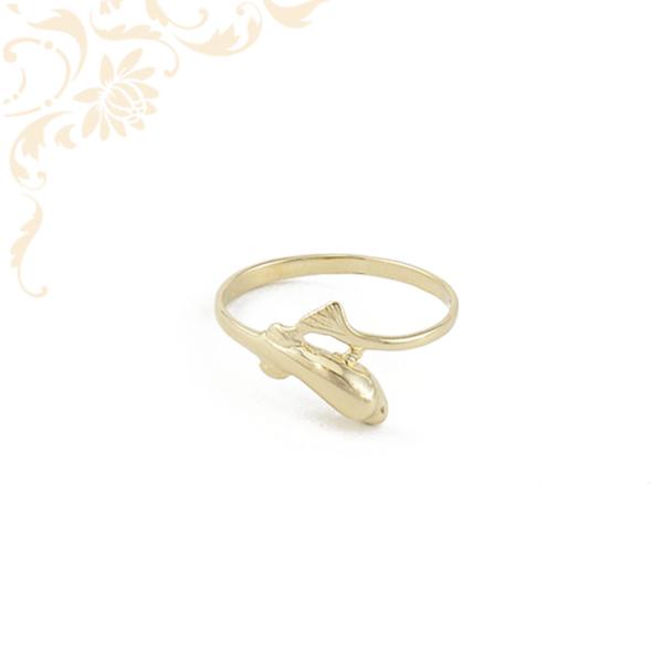 Delfin formájú női arany gyűrű
