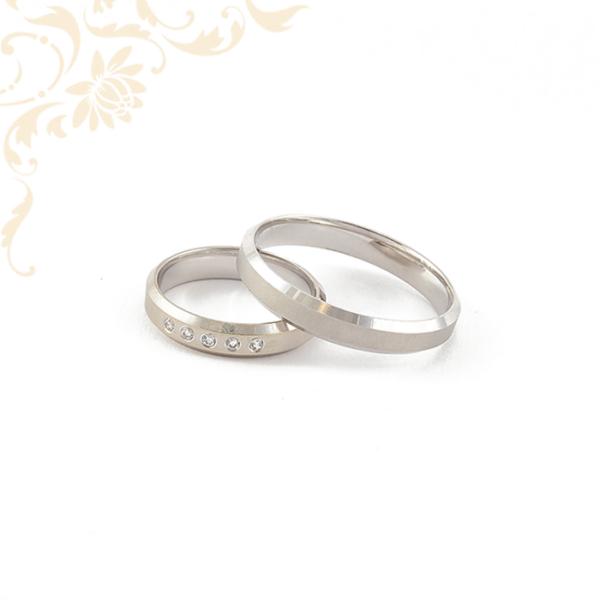 Fehérarany karikagyűrű pá