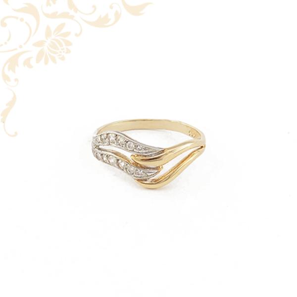 Áttört, női cirkónia köves arany gyűrű