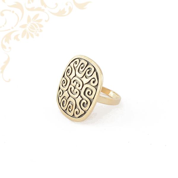 Aszték mintás női arany gyűrű