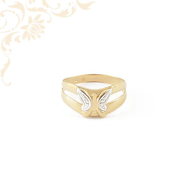 Pillangós női arany gyűrű