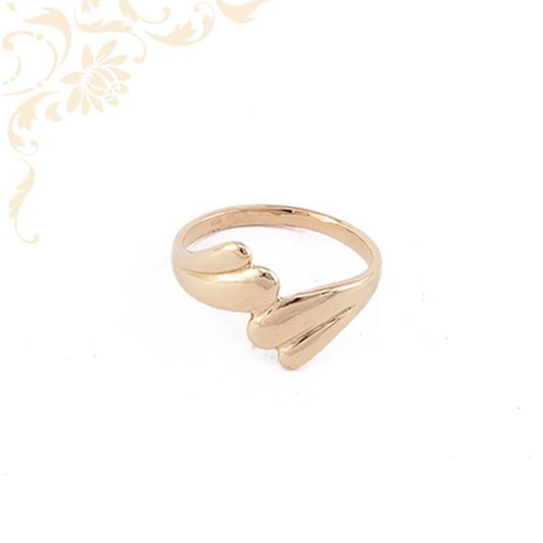 Rozé aranyból készült női arany gyűrű