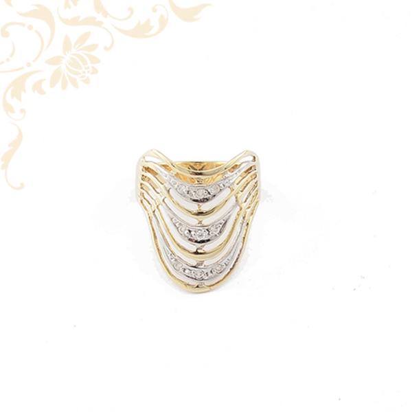 Exkluzív megjelenésű női arany gyűrű