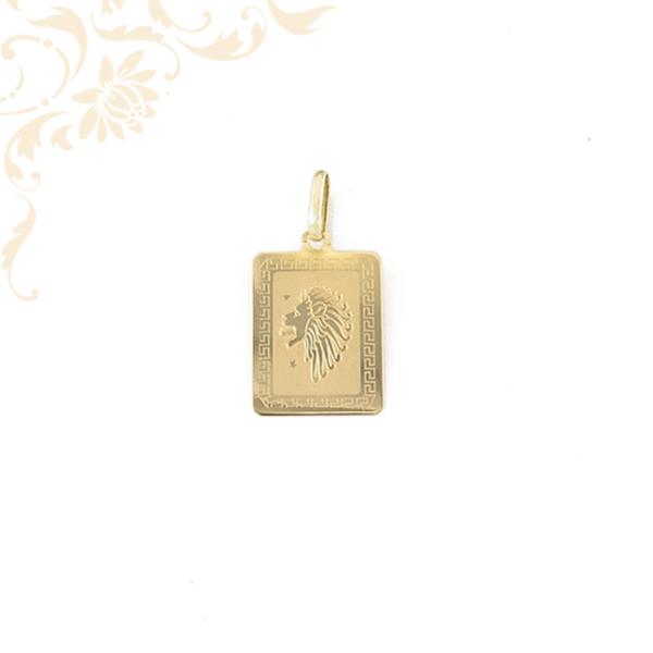 Oroszlán arany horoszkópos lapmedál.