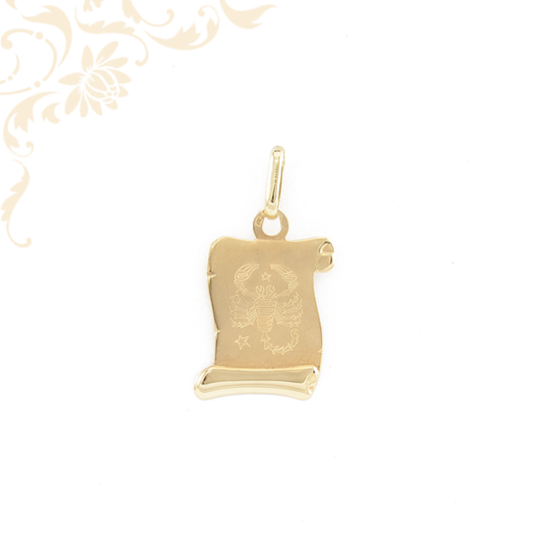 Skorpió horoszkópos arany medál