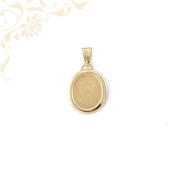 Rák arany horoszkópos medál