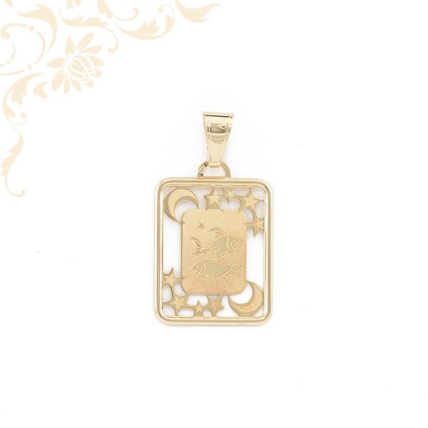 Halak horoszkópos arany medál