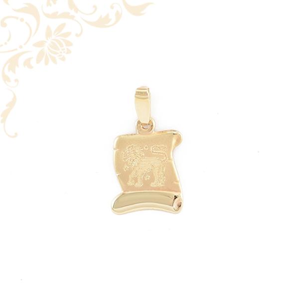 Oroszlán horoszkópos arany medál