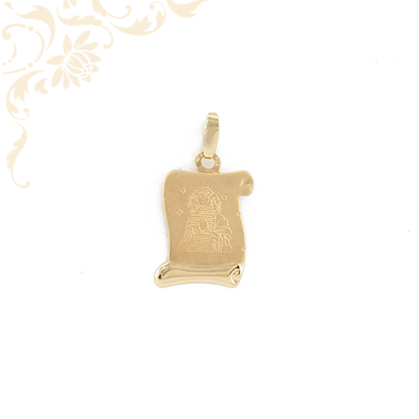 Szűz horoszkópos arany medál