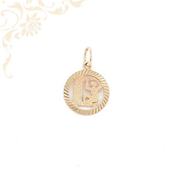 Vízöntő arany horoszkópos medál