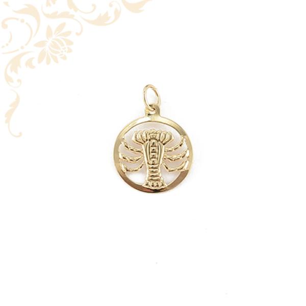 Rák horoszkópos arany medál