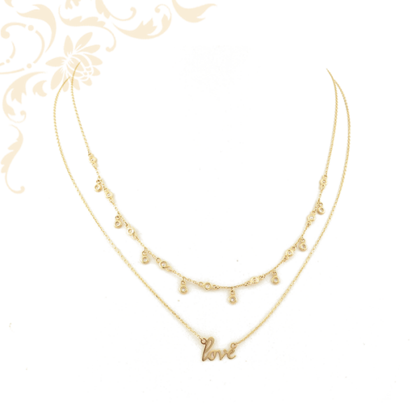 Univerzális, 2 külön hordható női arany nyaklánc