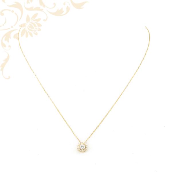 Arany nyaklánc cirkónia köves medállal
