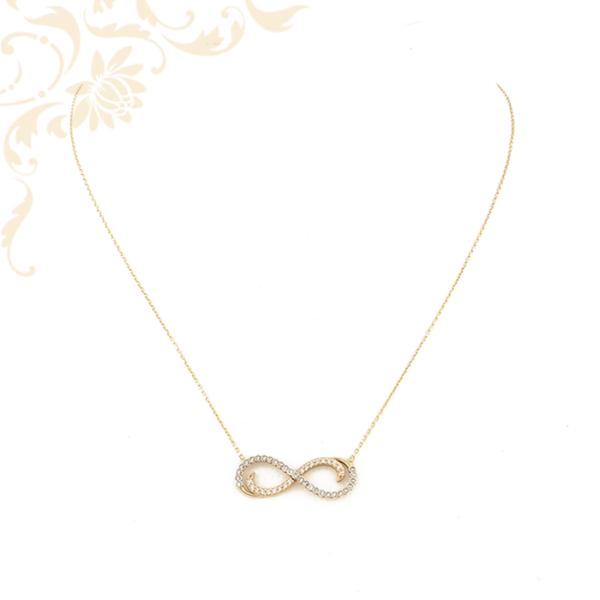 Női arany nyaklánc infinity arany medállal