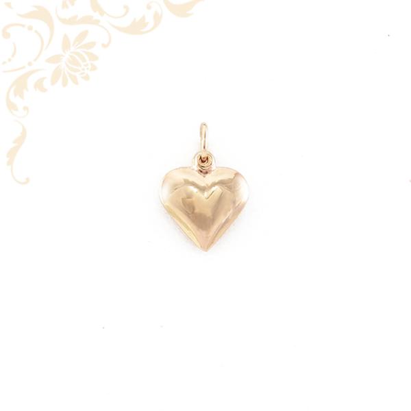 Üreges arany szív medál (3D)