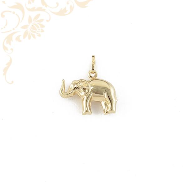 Üreges, elefántot ábrázoló arany medál