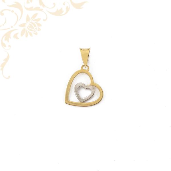Dupla szíves arany medál