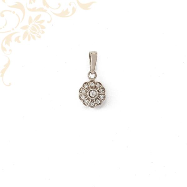 Cirkónia köves virág medál