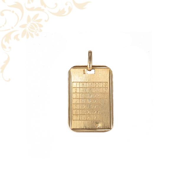 Öröknaptár arany medál