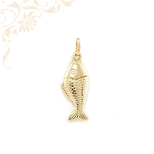 Üreges, hal formájú arany medál (3D).