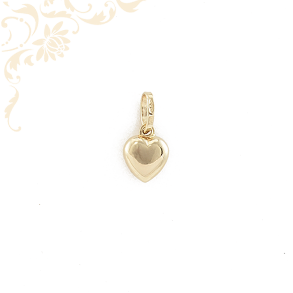 Szív formájú arany medál (3D)