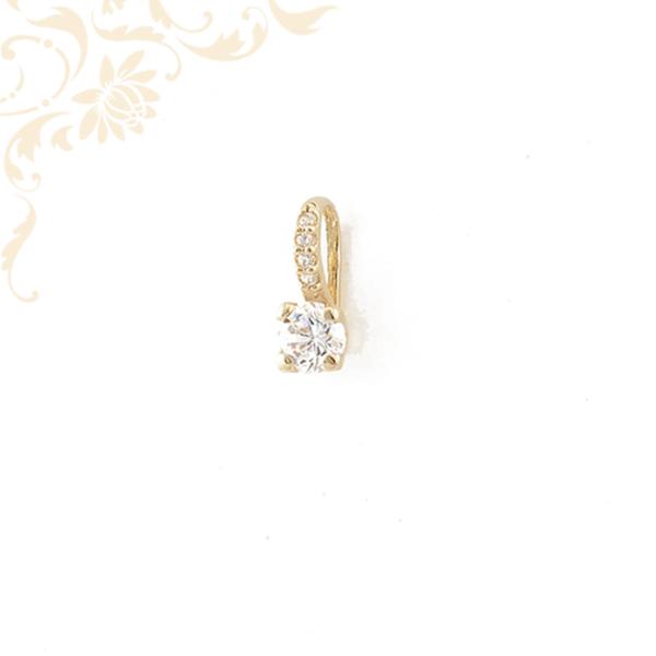 Cirkónia köves arany medál