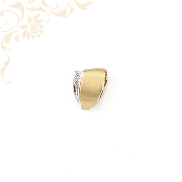Cirkónia köves arany csúszka medál
