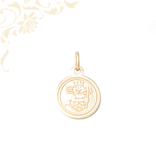 Triton királyt ábrázoló, gyermek arany medál