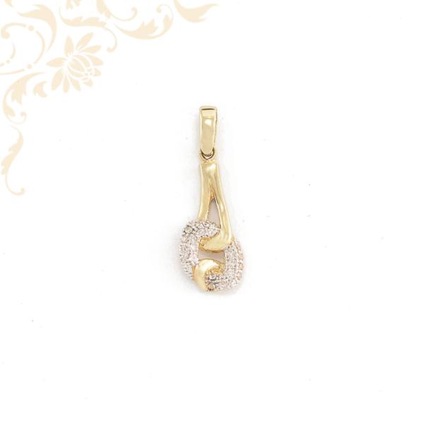 Női cirkónia köves arany medál