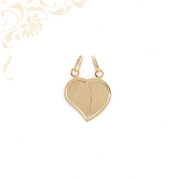 Kettétörhető arany szív medál