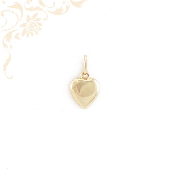 Üreges szív formájú arany medál (3D).