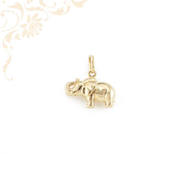 Arany elefánt medál 3D.