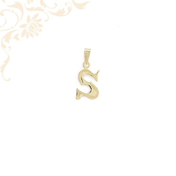 Arany S betű medál