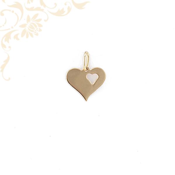 Arany szív lapmedál