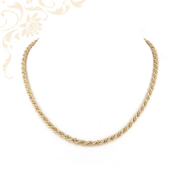 Walles fazonú női arany nyaklánc kockalánccal kombinálva
