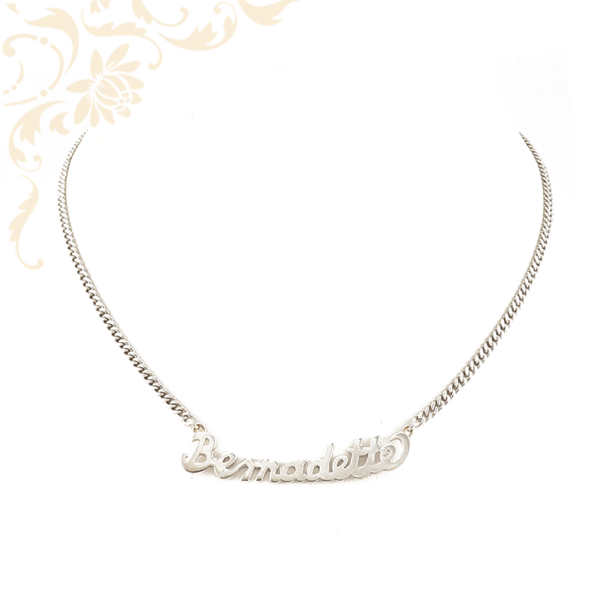 Bernadette névmedálos arany nyaklánc.