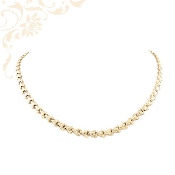 Gyémántvésett mintával díszített, női arany nyakék