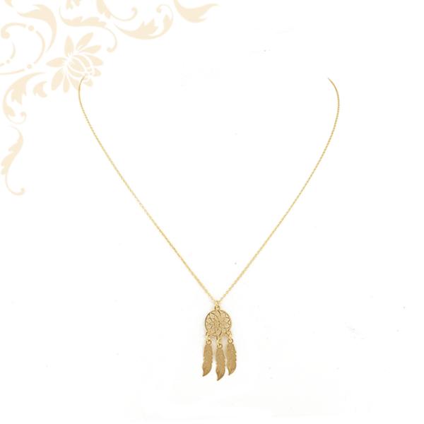 Arany nyaklánc álomfogó medállal
