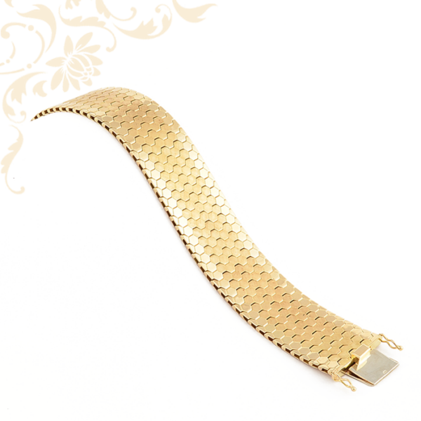 Méh sejtet formázó tagokból álló női arany karkötő
