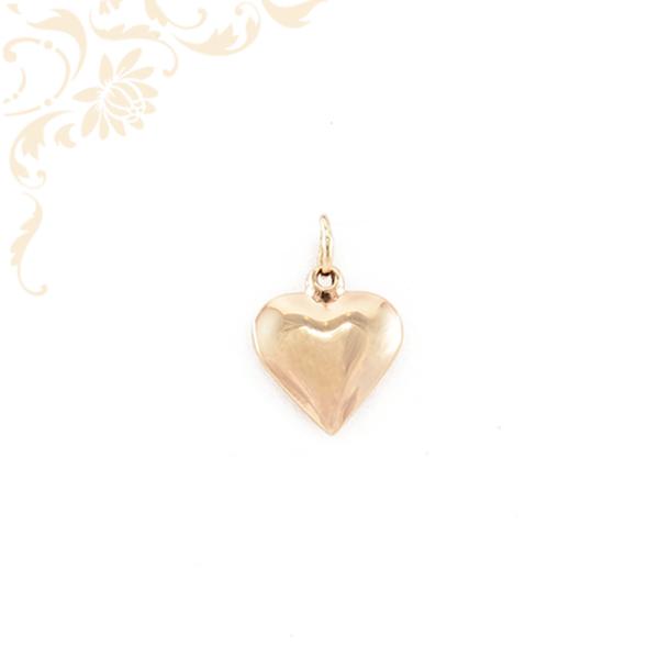 Szív formájú, üreges arany medál (3D)