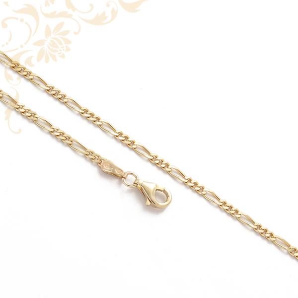 3+1 szemes Figaro fazonú arany nyaklánc