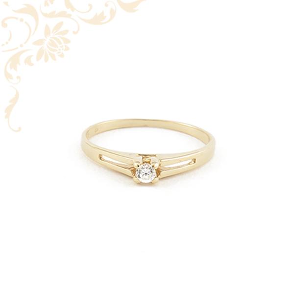 Cirkónia köves női arany gyűrű, eljegyzési gyűrű