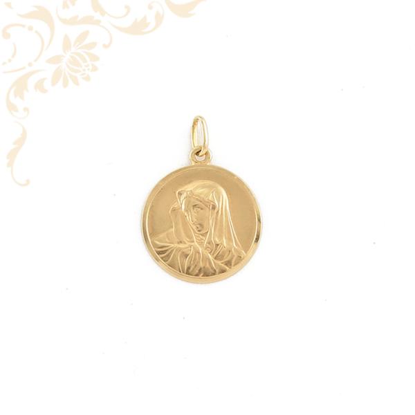 Szűz Mária arany medál.
