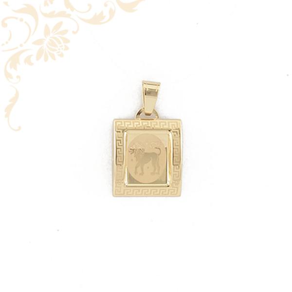 Oroszlán zodiákus jegyet ábrázoló arany horoszkópos medál