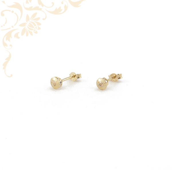 Fehér színű cikrónia kővel díszített arany fülbevaló