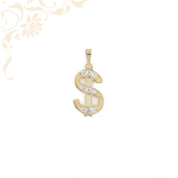 Dollárjegyet ábrázoló arany medál