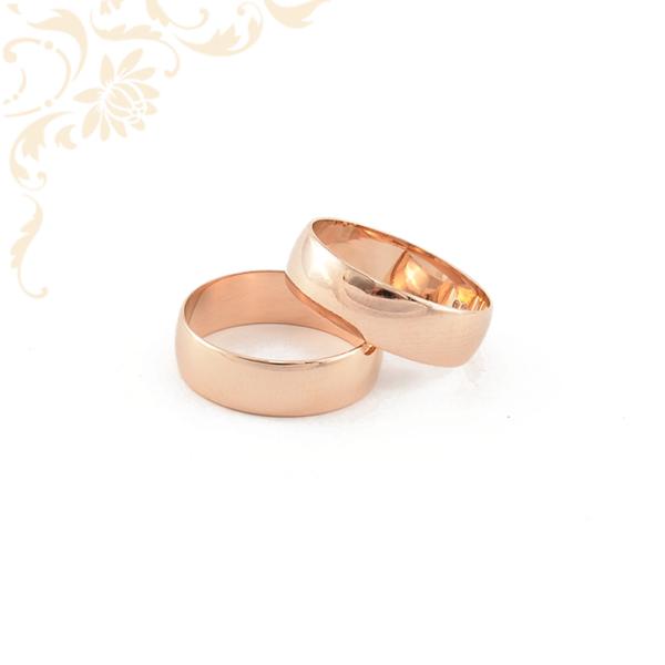 Rozé arany karikagyűrű pár