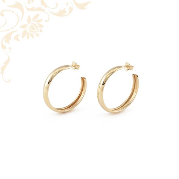 Karika jellegű női arany fülbevaló