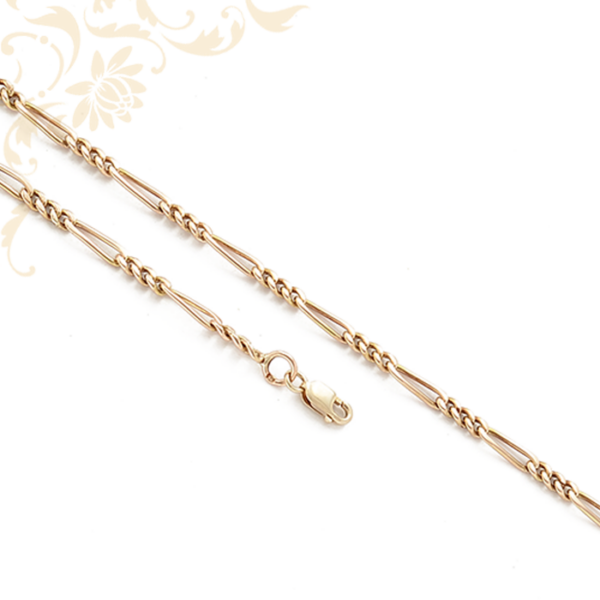 Figaro jellegű arany nyaklánc