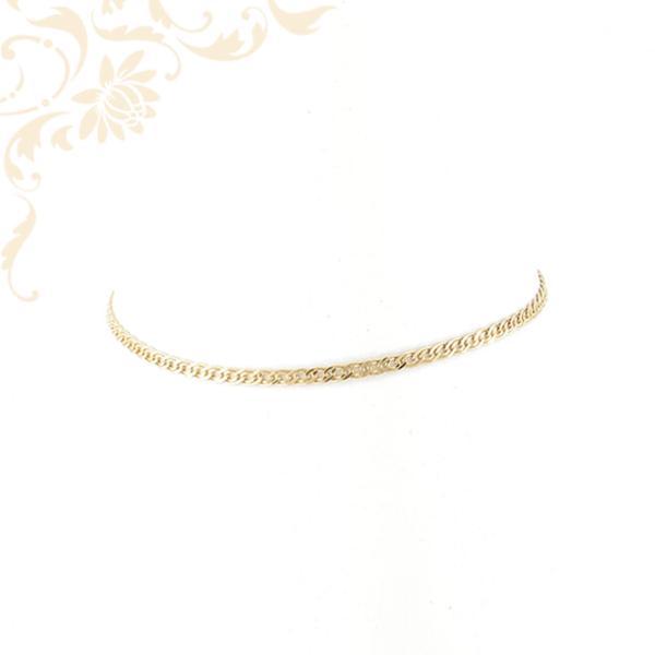 Lapított szemes női arany bokalánc
